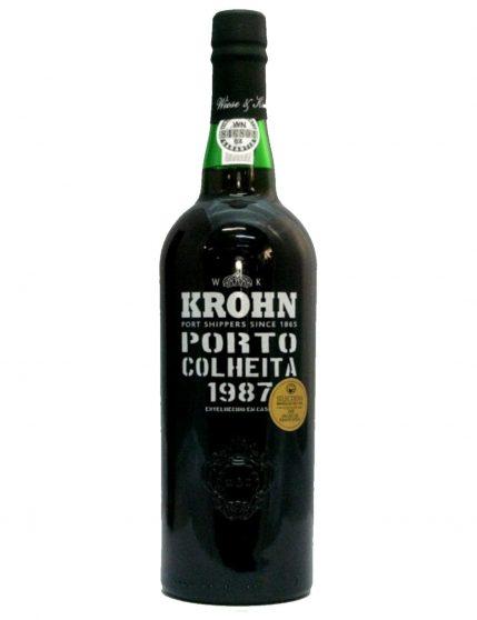 A Bottle of Krohn Harvest 1987 Port