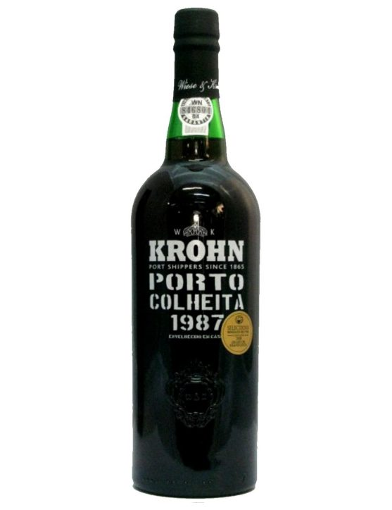 A Bottle of Krohn Harvest 1987 Port