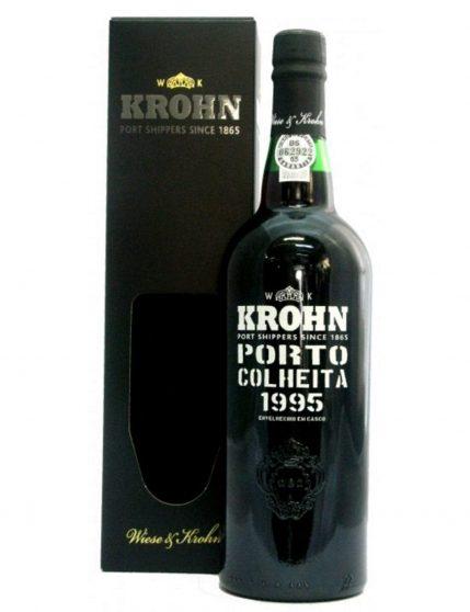 A Bottle of Krohn Harvest 1995 Port