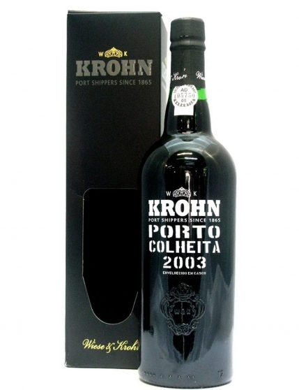 A Bottle of Krohn Harvest 2003 Port