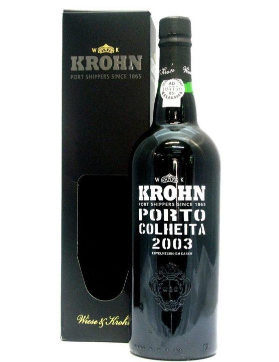 Une bouteille de Krohn Récolte 2003 Porto