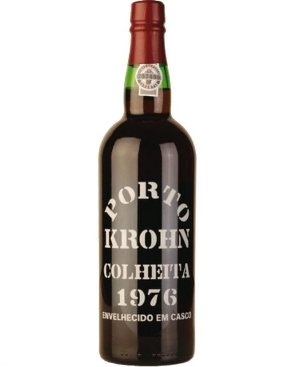 A Bottle of Krohn Harvest 1976 Port