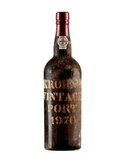 Une bouteille de Krohn Vintage 1970 Porto