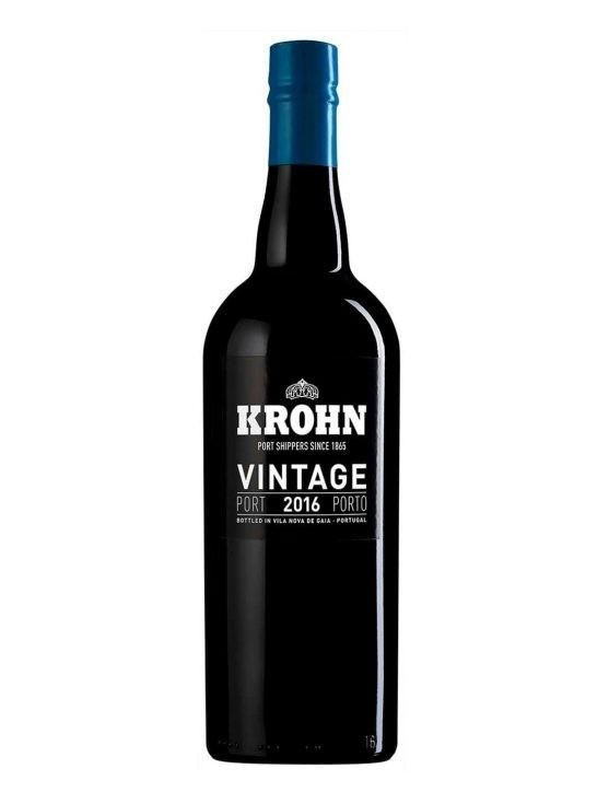 Une bouteille de Krohn Vintage 2016