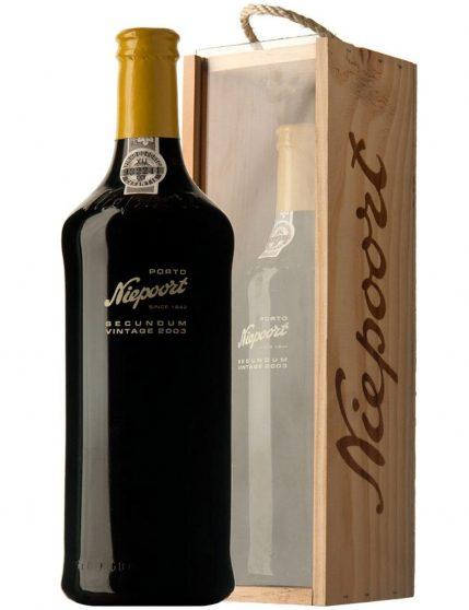 A Bottle of Niepoort Secundum Vintage 2003 Port Wine