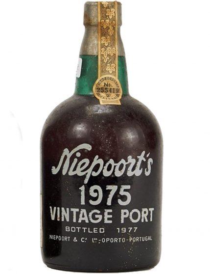 A Bottle of Niepoort Vintage 1975 Port Wine