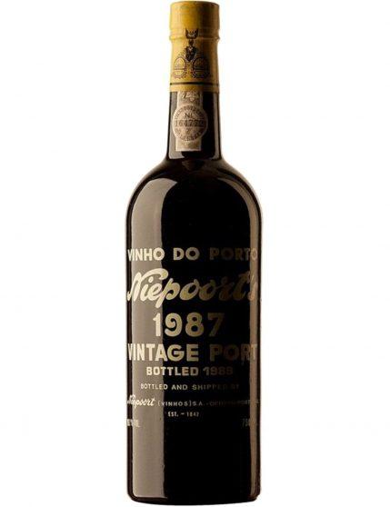 A Bottle of Niepoort Vintage 1987 Port Wine