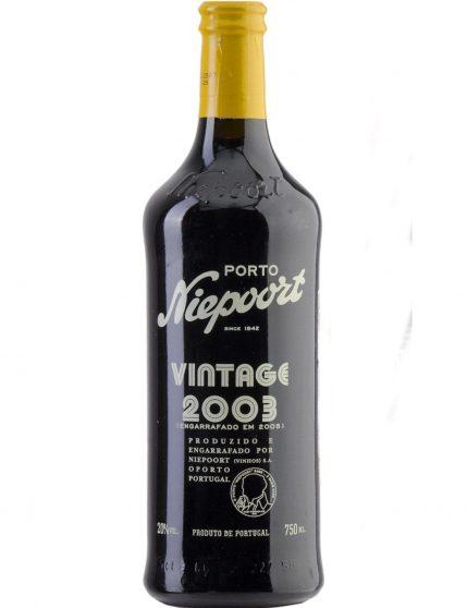 A Bottle of Niepoort Vintage 2003 Port Wine