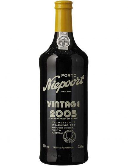 A Bottle of Niepoort Vintage 2005 Port Wine