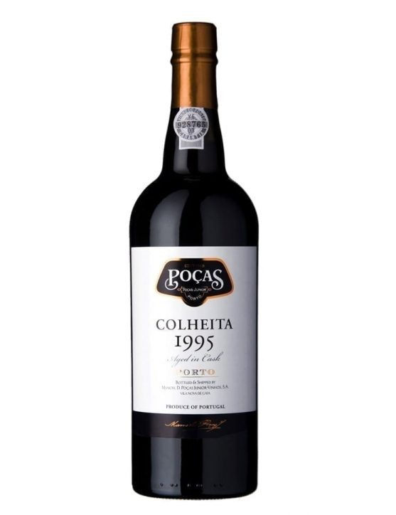 A Bottle of Poças Harvest 1995 Port Wine