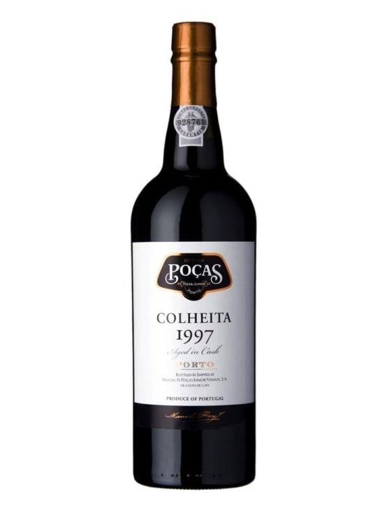 A Bottle of Poças Harvest 1997 Port Wine
