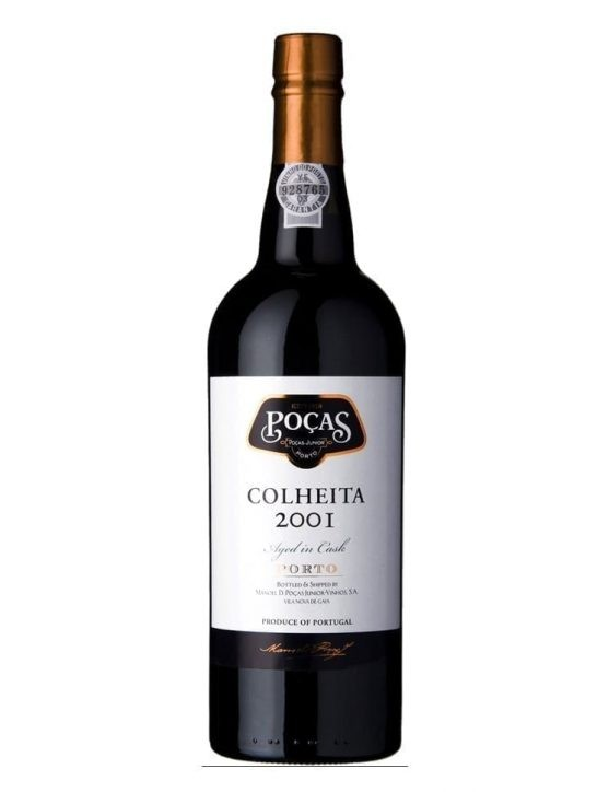 A Bottle of Poças Harvest 2001 Port Wine