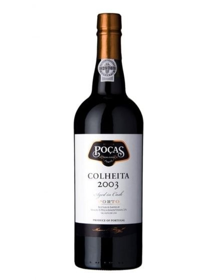 A Bottle of Poças Harvest 2003 Port Wine