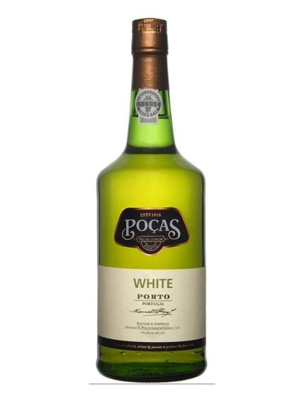 A Bottle of Poças White Port Wine