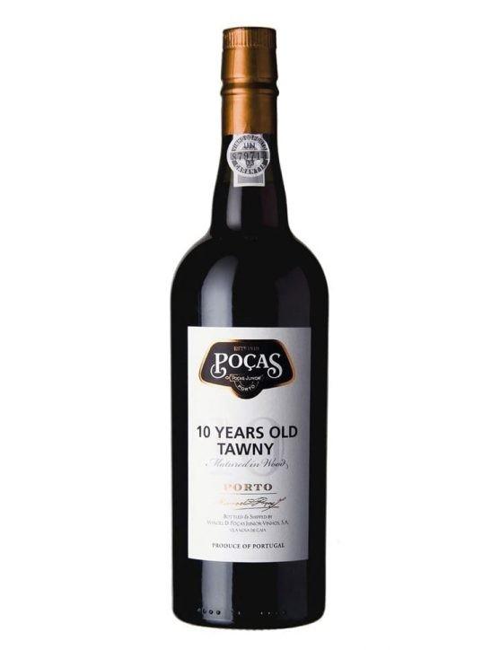 Une bouteille de Poças Tawny 10 Ans Porto