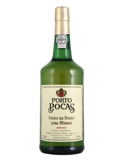 A Bottle of Poças Vinho de Missas Branco Port Wine