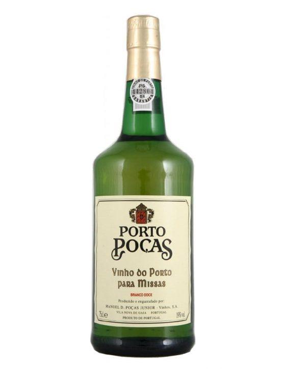 Uma Garrafa de Poças Vinho de Missas Branco Porto