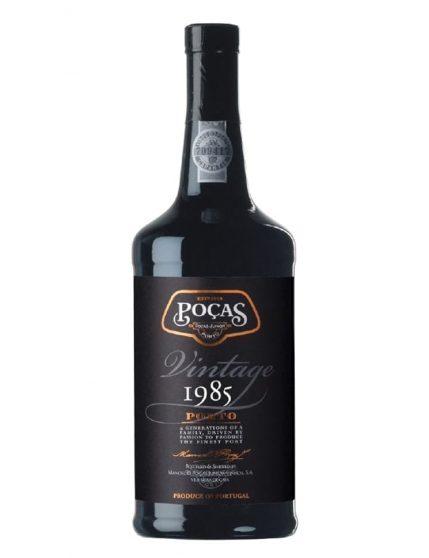 Une bouteille de Poças Vintage 1985 Porto