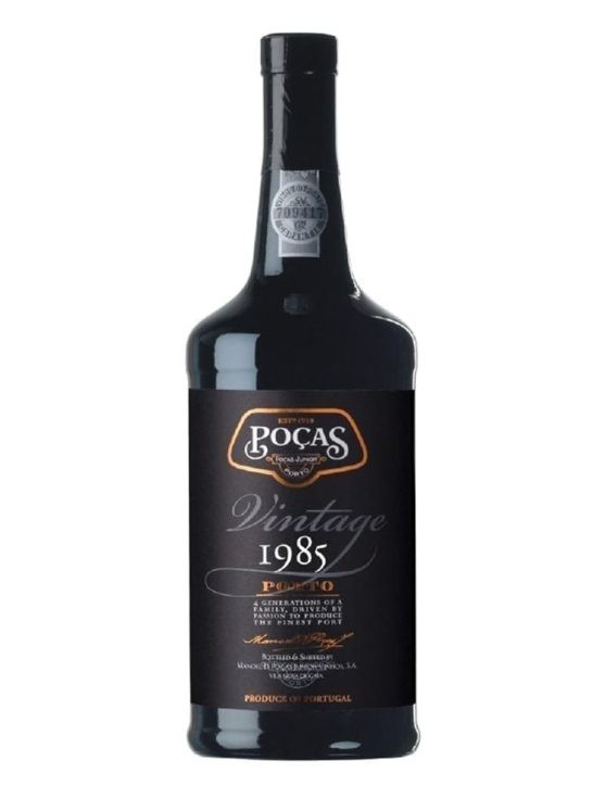 A Bottle of Poças Vintage 1985 Port