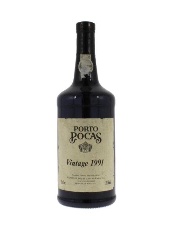A Bottle of Poças Vintage 1991 Port