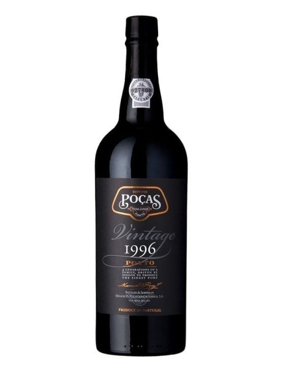 A Bottle of Poças Vintage 1996 Port