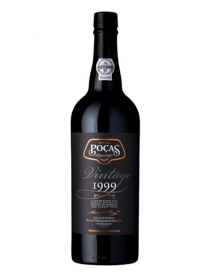 A Bottle of Poças Vintage 1999 Port
