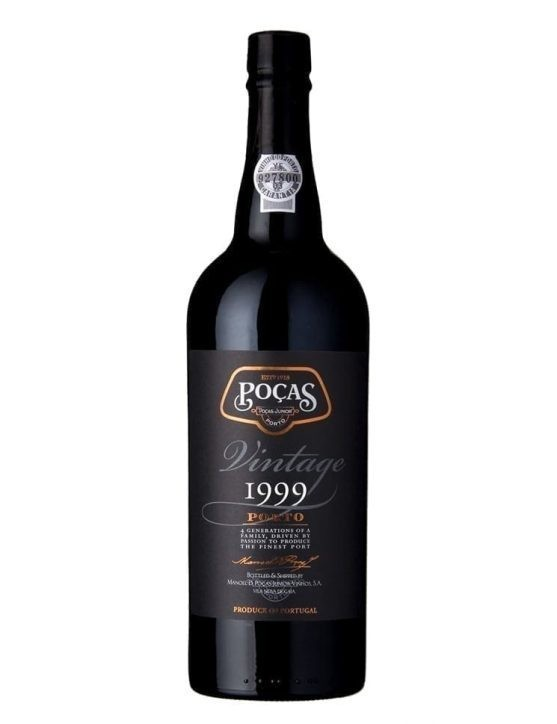 Eine Flasche Poças Vintage 1999