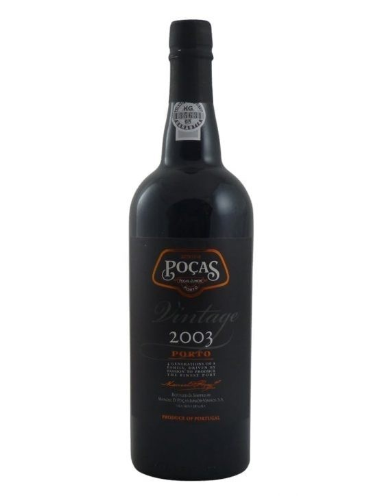 A Bottle of Poças Vintage 2003 Port