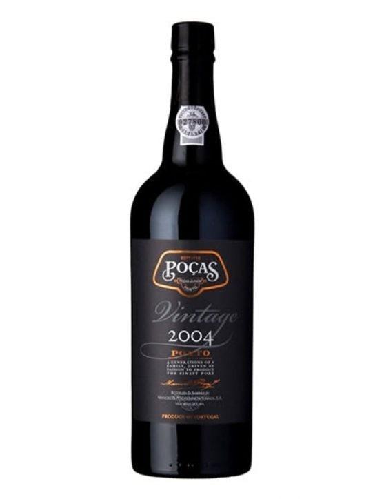 Eine Flasche Poças Vintage 2004