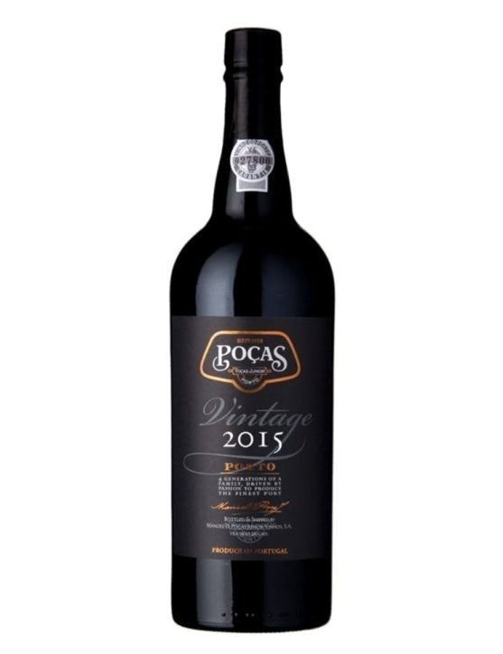 A Bottle of Poças Vintage 2015 Port