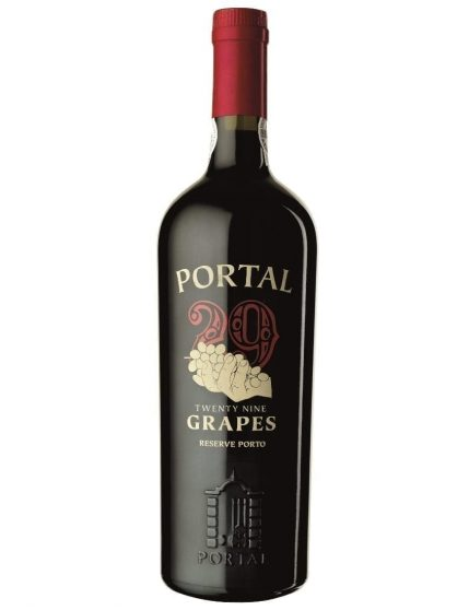 A Bottle of Quinta do Portal 29 Grapes Port