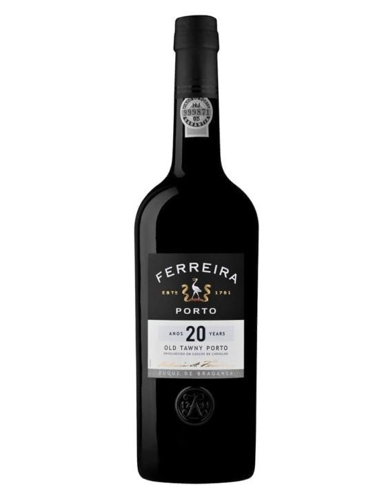 A Bottle of Ferreira Duque de Bragança 20 Years Tawny Port Wine