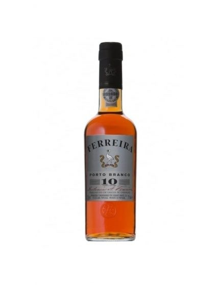 A Bottle of Ferreira 10 Years White Port Wine 37.5cl