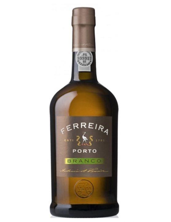 Uma Garrafa de Vinho do Porto Ferreira Branco