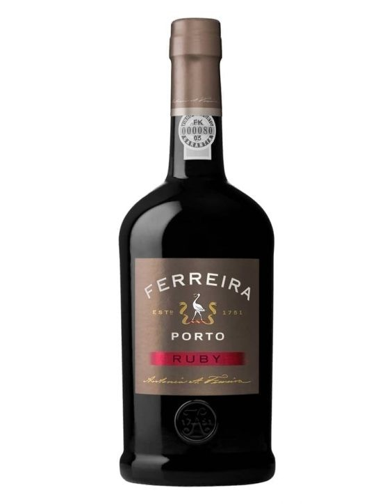 A Bottle of Ferreira Ruby Port Wine