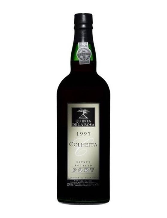 A Bottle of Quinta de la Rosa Harvest 1997 Port Wine