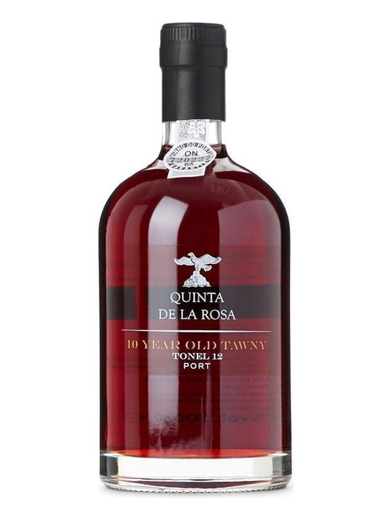 A Bottle of Quinta de la Rosa Tonel 12 - 10 Years Tawny Port Wine