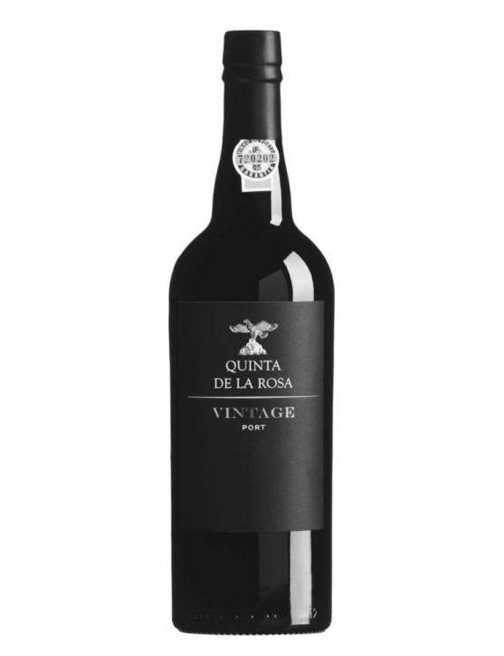 Eine Flasche Quinta de la Rosa Vintage 2014