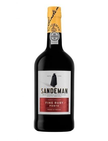 A Bottle of Sandeman Ruby Port Wine