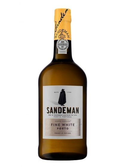 Une bouteille de Sandeman Blanc Porto