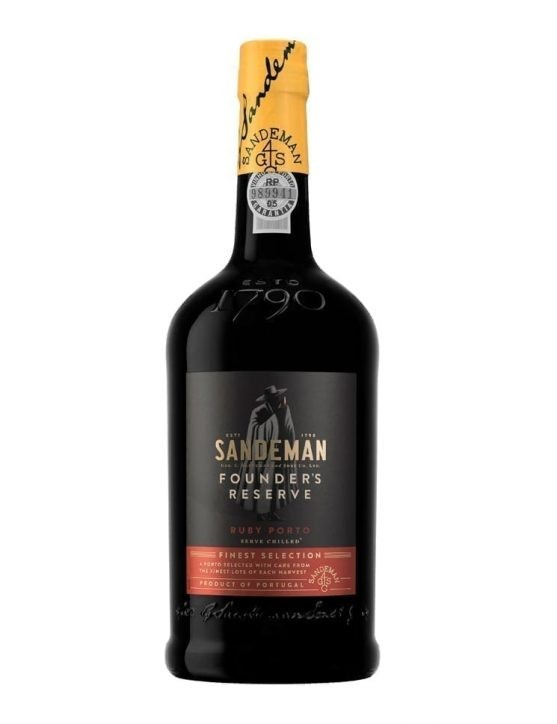 A Bottle of Sandeman Founders Port Wine