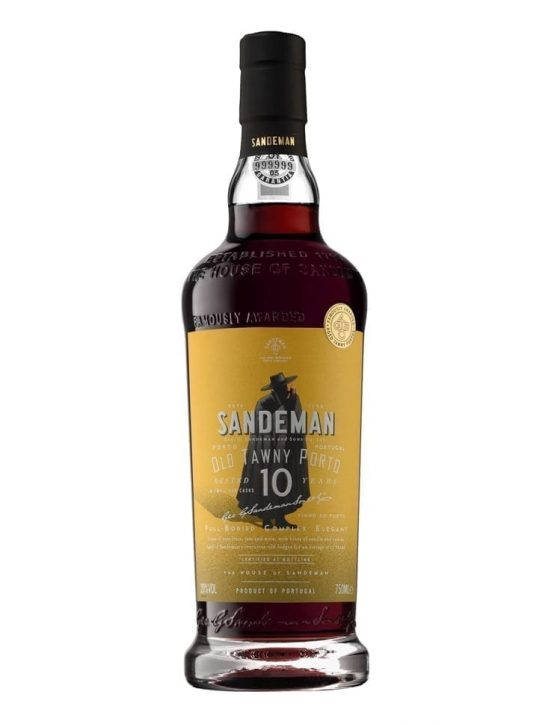 A Bottle of Sandeman 10 Years Tawny Port Wine