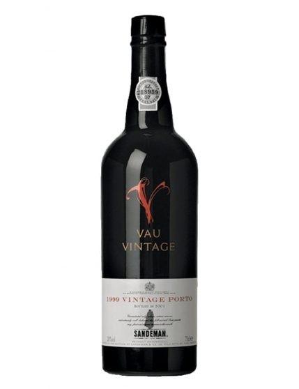 A Bottle of Sandeman Vau Vintage 1999 Port Wine