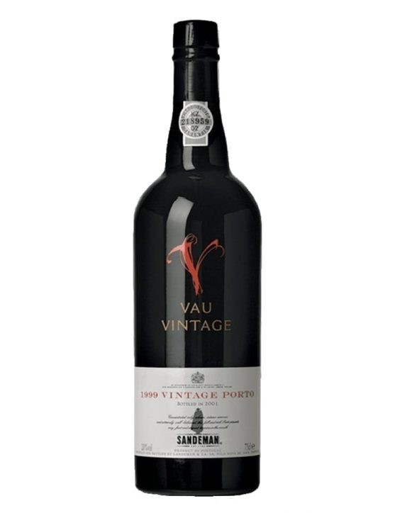 A Bottle of Sandeman Vau Vintage 1999 Port Wine