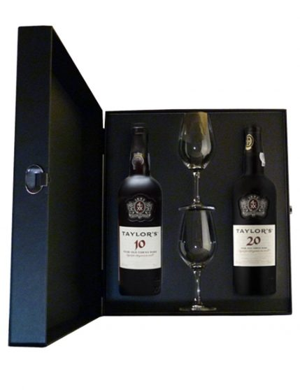 A Bottle of Taylor's Luxury Case (10 Years + 20 Years + 2 Glasses) Port