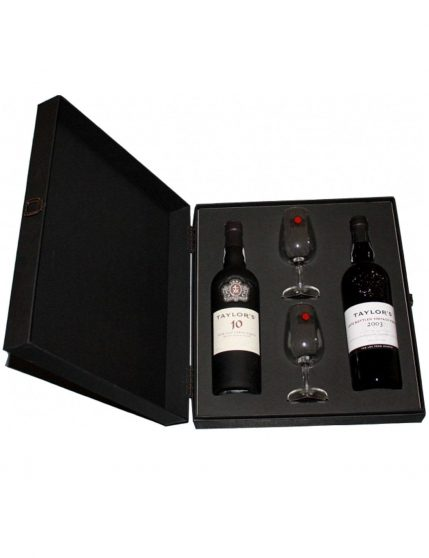 A Bottle of Taylor's Luxury Case (LBV + 10 Years + 2 glasses)