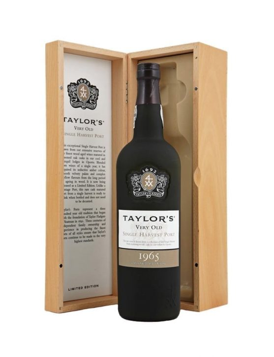 A Bottle of Taylor's Single Harvest 1965 Port