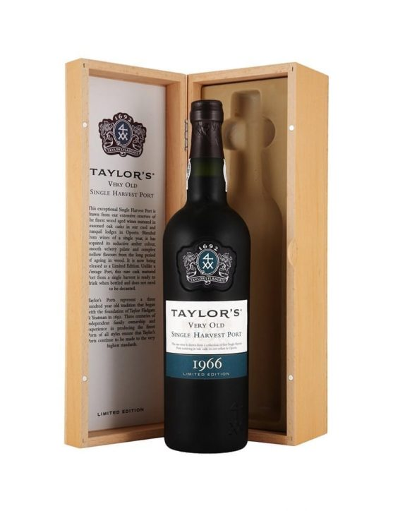 A Bottle of Taylor's Single Harvest 1966 Port