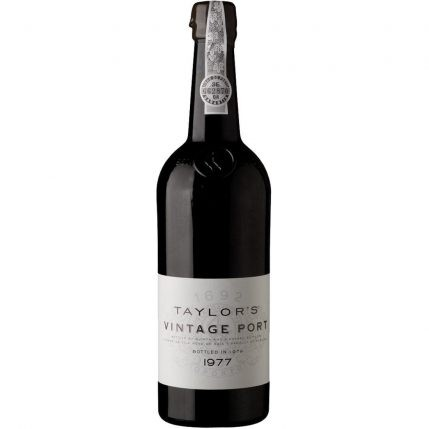 A Bottle of Taylor's Vintage 1977 Port Wine