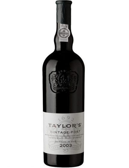 A Bottle of Taylor's Vintage 2003 Port Wine